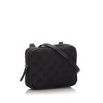 Gucci Black GG Canvas Crossbody Bag (9JGUCX009)