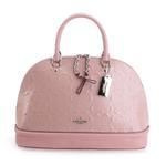 Coach Pink Signature Debossed Patent Leather Sierra Satchel (B07MCNM494)