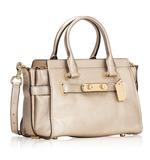 Coach Rose Gold 23197 Swagger 27 Leather Satchel (B07MJRBVF5)