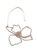 Gunina Silver Floral Drop Earrings (GE1083)