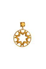 Gunina Gold Drop Earrings (GE1088)