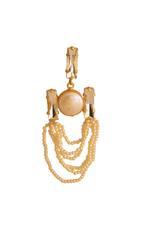 Gunina Ivory & Gold Drop Earrings (GE1242)