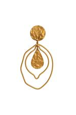 Gunina Gold Drop Earrings (GE1272)