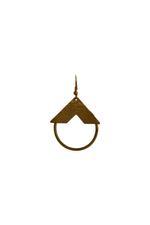 Gunina Gold Drop Earrings (GE1285)