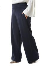 Miella Navy Blue Straight Trousers  (PN021-NVY)
