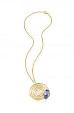 Just Cavalli Gold Plated and Blue Necklace with Pendant (SCADU02)