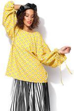 Miella Yellow Rey Polka Dot Top (TP026-Yellow)