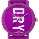 Super Dry Campus Block Purple Rubber Strap Analog Watch -  T SDWSYL196VW
