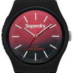 Superdry URBAN HERRINGBONE  Red & Black Rubber Strap Analog Watch - T SDWSYG184RB