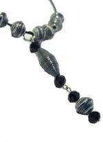 B-The Label Black & White Beaded Necklace (B-04)
