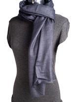 Ezma Charcoal Grey Souffle Stone Pure Cashmere Scarf