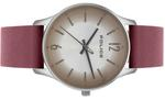 Police Makati Maroon Leather Strap Analog Watch - P 15574MS-04