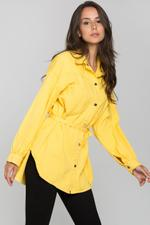 OwnTheLooks Yellow Denim Oversized Belted Top