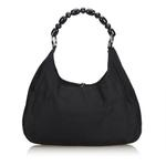 Dior Black Nylon Malice Pearl Hobo Bag (9ADRSH003)