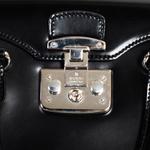 Gucci Black Calfskin Leather Handbag (2161700059632)