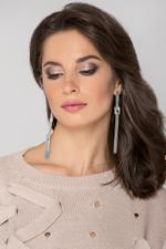 OwnTheLooks Silver-Toned Knotted Tassel Earrings (870A)