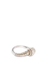 APM Monaco 925 Silver and Gold Plated Zirconia Ring (A16496OX-44)