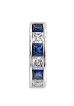 APM Monaco 925 Silver and Blue Zirconia Hoop Earrings (AE8487XKB)