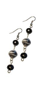 B-The Label Black & White Drop Earrings (B-34)