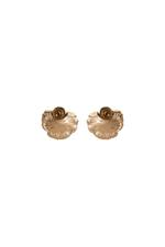 Gunina Black & Gold Stud Earrings (GE1086)