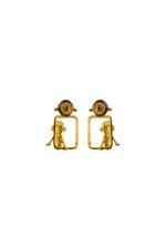 Gunina Silver & Black Drop Earrings (GE1181)