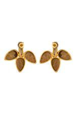 Gunina Ivory & Gold Drop Earrings (GE1247)