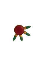 Gunina Red & Green Stud Earrings (GE771)