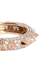 APM Monaco 925 Silver Rose Gold Plated Zirconia Ring (R15506OX-44)