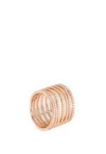 APM Monaco 925 Silver Rose Gold Plated Zirconia Ring (R16752OX-58)