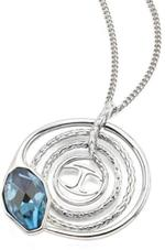 Just Cavalli Silver Tone and Blue Necklace with Pendant (SCADU07)