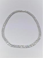 Amishi London Silver Plated Cubic Zirconia Studded Chain Necklace (SOHO42N)