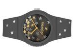Superdry URBAN STAR  Charcoal Grey Silicone Strap Analog Watch - T SDWSYL275E