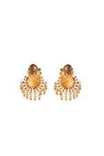 Wahe Guru Gold Plated Metallic Beads Drop Earrings (T00974)