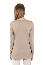 Miella Beige Basic Long Knit Top (TP7601-LBRW)