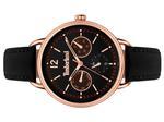 Timberland Nahant Black Leather Strap Analog Watch - T TBL15646MYR-02