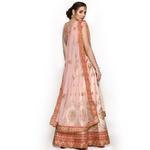 Pankhudii Powder Pink Designer Semistitched Lehenga Set  (RHYTHM15)