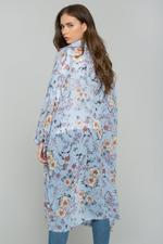 OwnTheLooks Blue Floral Shirt Style Shrug (615B)
