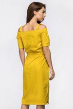 OwnTheLooks Mustard Off the Shoulder Belted Strap