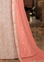 Pankhudii  Pink Embroidered Semi-Stitched Lehenga Set (76026)