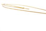 Miella Gold-Toned Two-Row Chain with Dangling Pendant  (NK12-GLD)