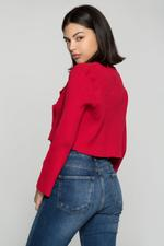 OwnTheLooks Red Tailored Cropped Jacket (849B)