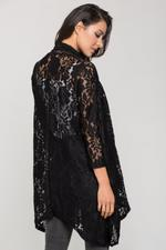 OwnTheLooks Black Lace Wrap Top (409B)