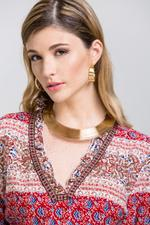 OwnTheLooks Gold Wire Choker Jewelry 4-piece Set