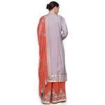 Pankhudii Lilac and Coral Sharara Suit Set (RAAS59)