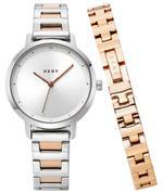 Dkny  The Modernist Silver Rose Gold Analog Watch -NY2643