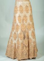 Pankhudii Peach Embellished Semi-Stitched Lehenga Set (76237)
