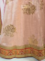 Pankhudii Pink Woven Semi-Stitched Lehenga Set (75966)