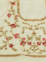 Pankhudii Beige Embroidered Semi-Stitched Lehenga Set (76158)