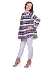 Miella Multicolored Nautical Stripe Top (TP024-MUL)