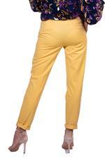 Miella Yellow Folded Hem Straight Trousers (PN307-YLW)